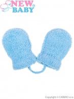 Detské zimné rukavičky New Baby so šnúrkou modré NEW BABY