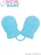 Detské zimné rukavičky New Baby so šnúrkou svetlo modré NEW BABY