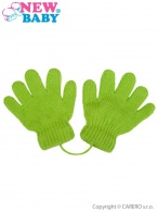 Detské zimné rukavičky New Baby svetlo zelené NEW BABY