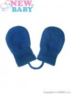 Detské zimné rukavičky New Baby modré NEW BABY