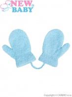 Detské zimnné rukavičky New Baby so šnúrkou svetlo modré NEW BABY