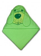 Detská froté osuška 80x80 psík zelená NEW BABY