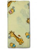 Flanelová plienka s potlačou New Baby béžová so žirafkou NEW BABY
