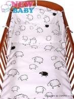 2-dielne posteľné obliečky New Baby 90/120 cm Ovečky biele NEW BABY