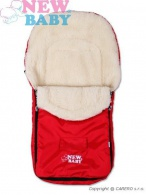 Zimný fusak New Baby Classic Wool red NEW BABY