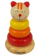 Drevená hračka Baby Mix - veža 18+ mačička BABY MIX