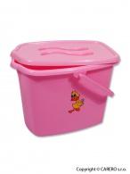 Kýblik na plienky Balbínka ružový TEGA
