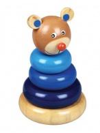 Drevená hračka Baby Mix - veža 18+ medveď BABY MIX