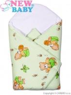 Detská zavinovačka New Baby zelený medvedík NEW BABY