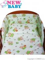 <p>3-dielne posteľné obliečky New Baby 90/120 cm zelené s medvedíkom</p> NEW BABY