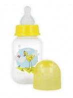 Fľaša s obrázkom Akuku 125 ml žltá AKUKU