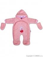 Detská kombinéza New Baby ježko ružová NEW BABY