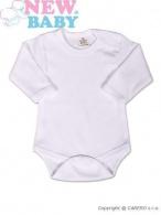 Body dlhý rukáv New Baby - biele NEW BABY