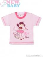 Detské tričko s krátkym rukávom New Baby Girl and Birds NEW BABY