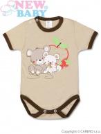 Detské body s krátkym rukávom New Baby Myšky s Jahôdkou NEW BABY