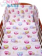 2-dielne posteľné obliečky New Baby 100/135 cm biele so sovou NEW BABY