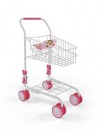 Detský nákupný košík Milly Mally Žofie ružovo-hnedý MILLY MALLY