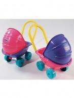 Kočík pre bábiky hlboký - ružový DOHANY