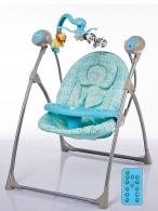 Detské ležadlo s houpátkom kolotočom a ovládačom Baby Mix blue BABY MIX