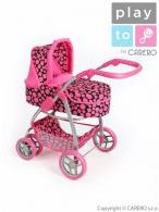 Multifunkčný kočík pre bábiky PlayTo Jasmínka ružový PLAYTO