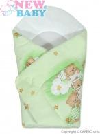 Detská zavinovačka New Baby zelená s medvedíkom NEW BABY
