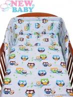 2-dielne posteľné obliečky New Baby 90/120 cm modré so sovou NEW BABY