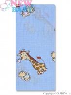 Bavlnená plienka s potlačou New Baby modrá so žirafkou NEW BABY