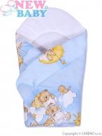Detská zavinovačka New Baby modrá s medvedíkom NEW BABY