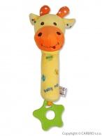 Detská plyšová hrkálka s pískatkom Baby Mix žirafa BABY MIX
