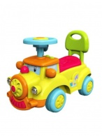 Detské Jezdítko so zvukom Baby Mix Happy Train žlté BABY MIX