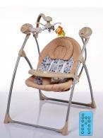 Detské ležadlo s houpátkom kolotočom a ovládačom Baby Mix latte BABY MIX