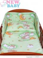 2-dielne posteľné obliečky New Baby 90/120 cm zelené s medvedíkom NEW BABY