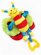 Edukačná plyšová hračka Sensillo motýlik s pískatkom SENSILLO