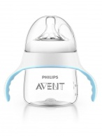 Dojčenská fľaša a hrnček 2v1 Avent Natural transparentná 150 ml AVENT