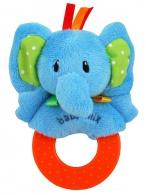 Detská plyšová hrkálka Baby Mix slon BABY MIX
