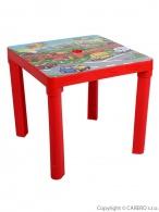 Detský záhradný nábytok - Plastový stôl červený STAR PLUS