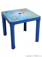 Detský záhradný nábytok - Plastový stôl modrý STAR PLUS