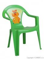 Detský záhradný nábytok - Plastová stolička zelená STAR PLUS