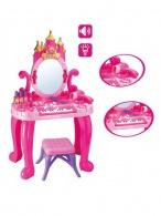 Detský toaletný stolík s pianom a stoličkou Bayo + příslušenství 13 ks BAYO