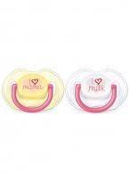 Dojčenský cumlík Avent 0-6 mesiacov - 2ks ružový AVENT