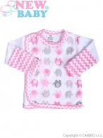 Dojčenská košieľka New Baby Sloník bielo-ružová NEW BABY