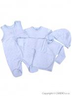 4-dielna dojčenská súprava Koala  Amorek modrá s hviezdičkami KOALA