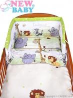 2-dielne posteľné obliečky New Baby 90/120 cm zelené safari NEW BABY