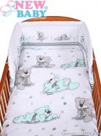 2-dielne posteľné obliečky New Baby 90/120 cm sivý medvedík NEW BABY