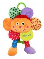 Plyšová hračka so zvukom Baby Mix Kvetinka BABY MIX