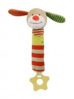 Detská pískacia plyšová hračka s hryzátkom Baby Mix psík BABY MIX