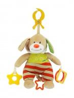 Plyšová hračka s hracím strojčekom Baby Mix Medvedík s kapucňou béžový BABY MIX
