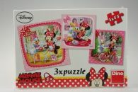 Puzzle Minnie na návštěve 3 x 55 dílků