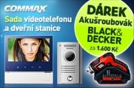 CDV-70H+DRC-40K+B Commax - sada barevného vidotelefonu  s 7\'\' displejem s dotykovými tlačítky Bonus AKU šroubovák