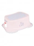 Detské protišmykové stúpadlo do kúpeľne Bunny ružové TEGA